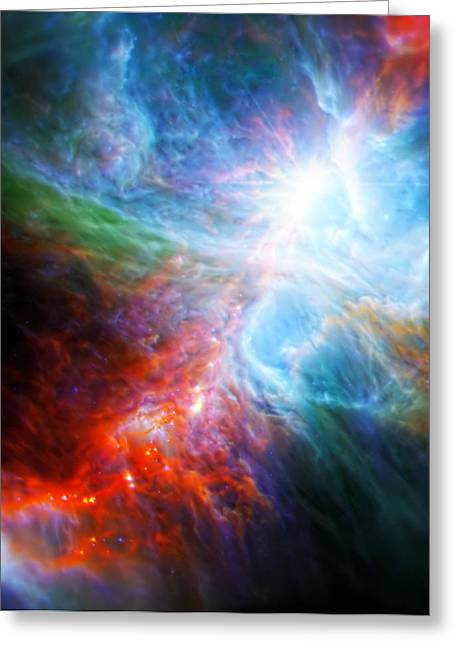Nasa Images Greeting Cards - Orions Rainbow 3 Greeting Card by The  Vault - Jennifer Rondinelli Reilly
