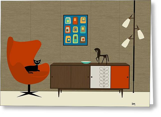 Orla Kiely Cabinet Greeting Card by Donna Mibus