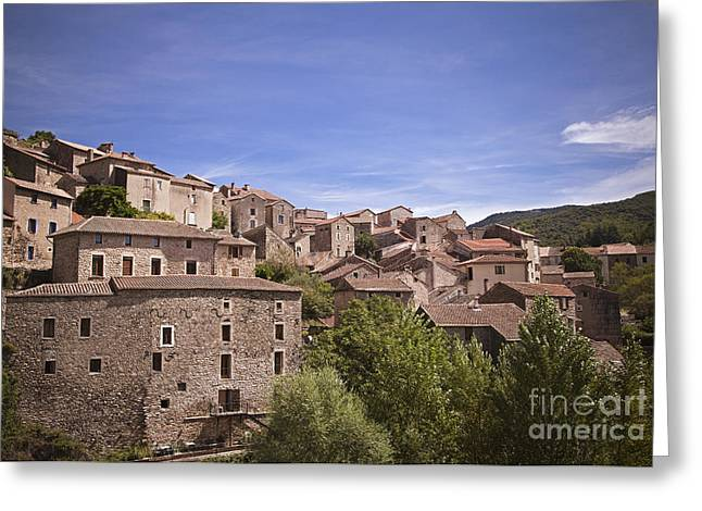 Languedoc Greeting Cards - Orlagues South France Greeting Card by Maria Heyens