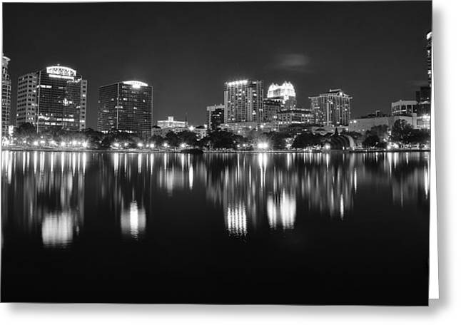 Jacksonville Greeting Cards - Orlando Black and White Greeting Card by Frozen in Time Fine Art Photography