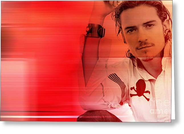 Orlando Bloom Greeting Card by Marvin Blaine