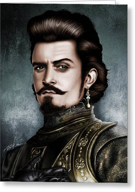 Orlando Bloom Greeting Card by Movie Prints