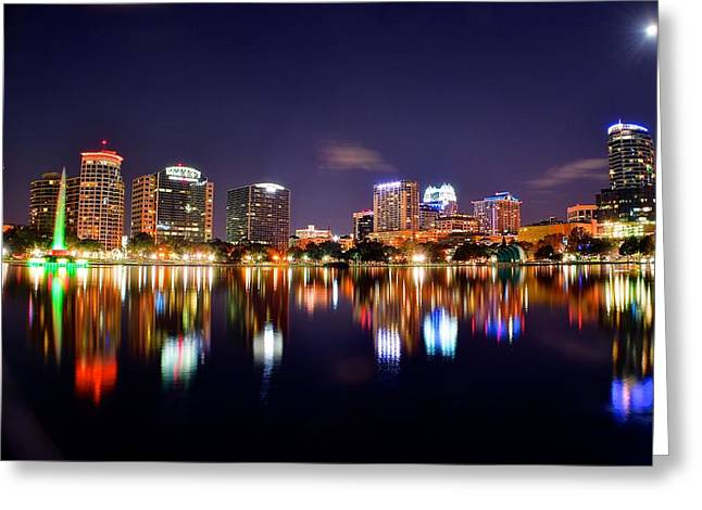 Sea Moon Full Moon Greeting Cards - Orlando Florida Greeting Card by Frozen in Time Fine Art Photography