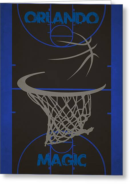 Magic Photographs Greeting Cards - Orlando Magic Court Greeting Card by Joe Hamilton