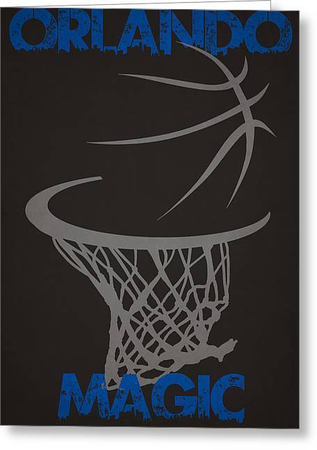 Magic Photographs Greeting Cards - Orlando Magic Hoop Greeting Card by Joe Hamilton