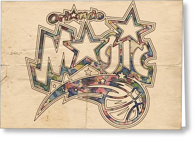 Orlando Magic Digital Art Greeting Cards - Orlando Magic Poster Art Greeting Card by Florian Rodarte