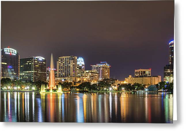 Recently Sold -  - City Lights Greeting Cards - Orlando Skyline Greeting Card by Brian Young