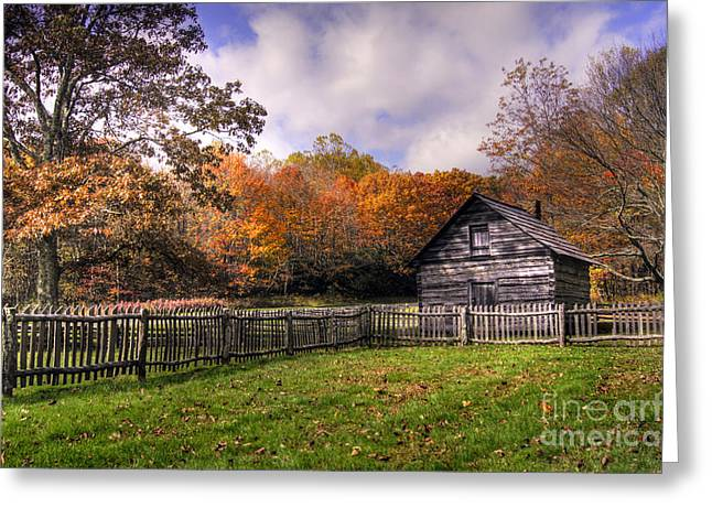 Orlean Puckett's Cabin Greeting Card by Benanne Stiens