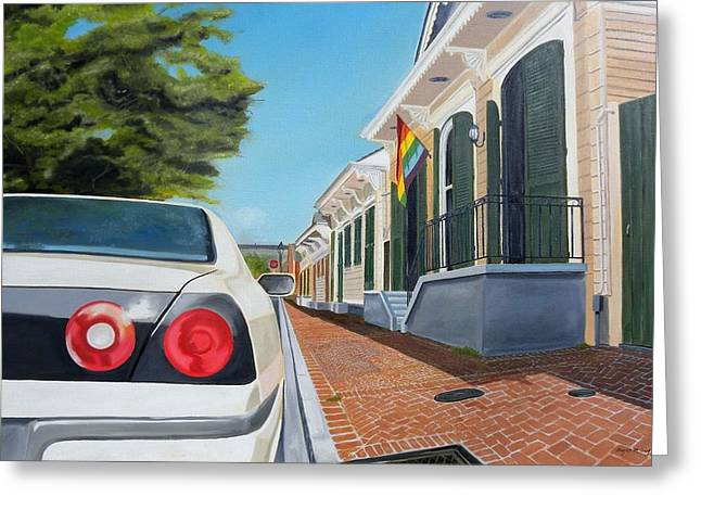 Orleans Avenue- French Quarter Greeting Card by Bryan Ory