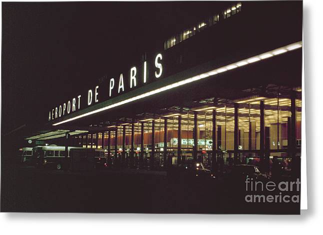 Bus Signs Greeting Cards - Orly Airport Paris Greeting Card by Jan Faul
