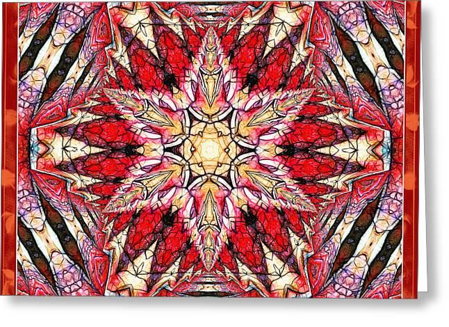 Emergence Greeting Cards - Ornamental Autumn Mandala Greeting Card by Georgiana Romanovna