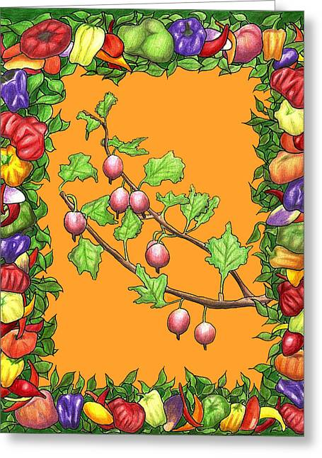 Tomato Drawings Greeting Cards - Ornamental Beauty Greeting Card by Clayton Reynolds