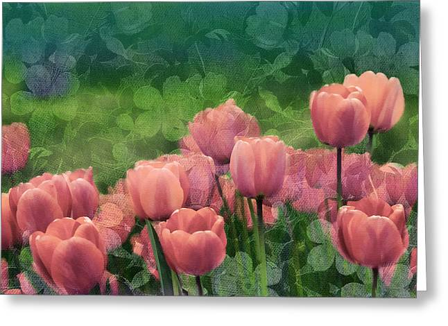 Your Home Mixed Media Greeting Cards - Ornamental Garden Greeting Card by Georgiana Romanovna