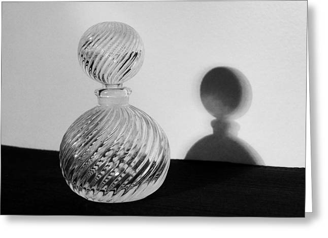 Glasswork Greeting Cards - Ornamental Glass Bottle Greeting Card by Tom Druin