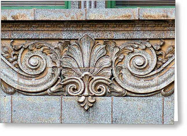 Pairs Greeting Cards - Ornamental Scrollwork Panel - Architectural Detail Greeting Card by Nikolyn McDonald