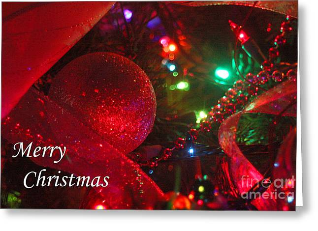 Gingrich Photography Digital Art Greeting Cards - Ornaments-2107-MerryChristmas Greeting Card by Gary Gingrich Galleries