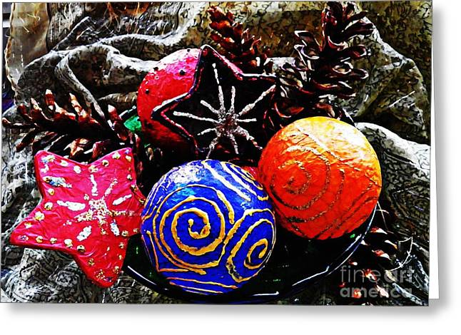 Pine Cones Greeting Cards - Ornaments 7 Greeting Card by Sarah Loft