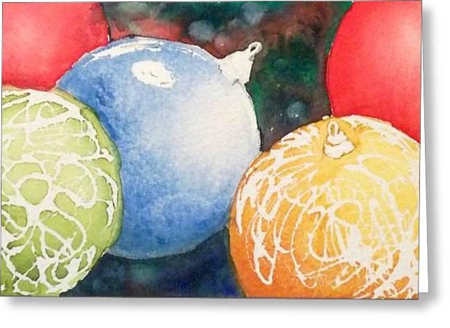 Ornaments Greeting Card by Yoshiko Mishina