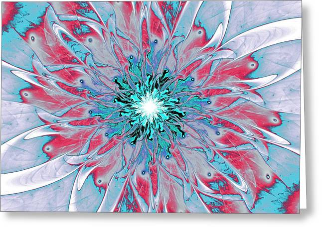 Purple Abstract Greeting Cards - Ornate Greeting Card by Anastasiya Malakhova