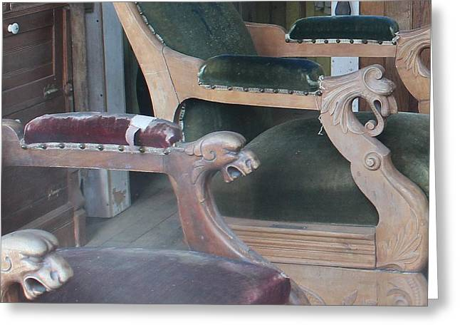 Foot Stool Greeting Cards - Ornate Chairs Greeting Card by Mark Eisenbeil