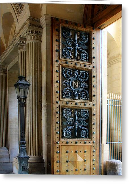 Ornate Door Greeting Card by Andrew Fare