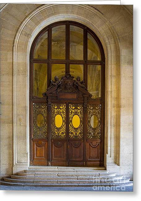 Stepping Stones Greeting Cards - Ornate Door - Paris Greeting Card by Brian Jannsen