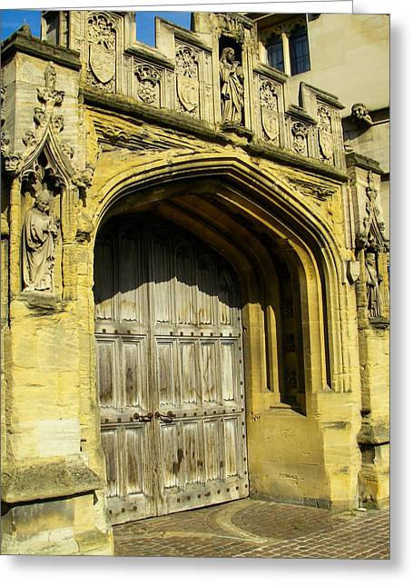 Geobob Greeting Cards - Ornate Doors and Church Entrance Oxford England Greeting Card by Robert Ford