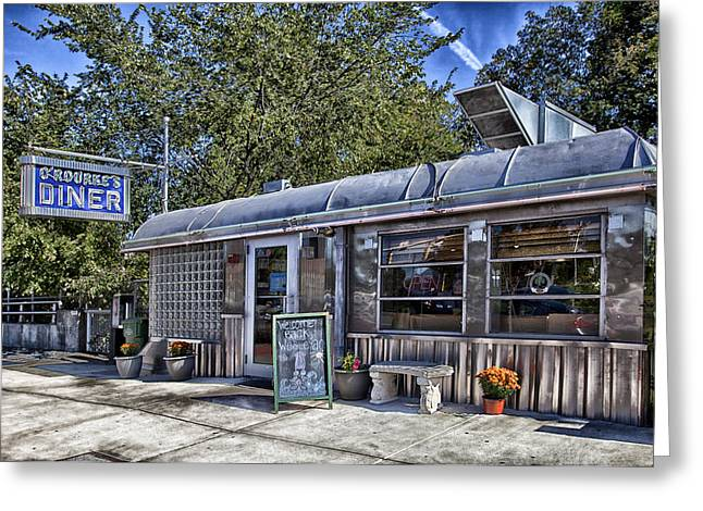 Rourke Greeting Cards - ORourkes Diner Greeting Card by Mountain Dreams