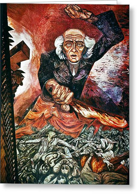 Orozco 'father Hidalgo' Greeting Card by Granger