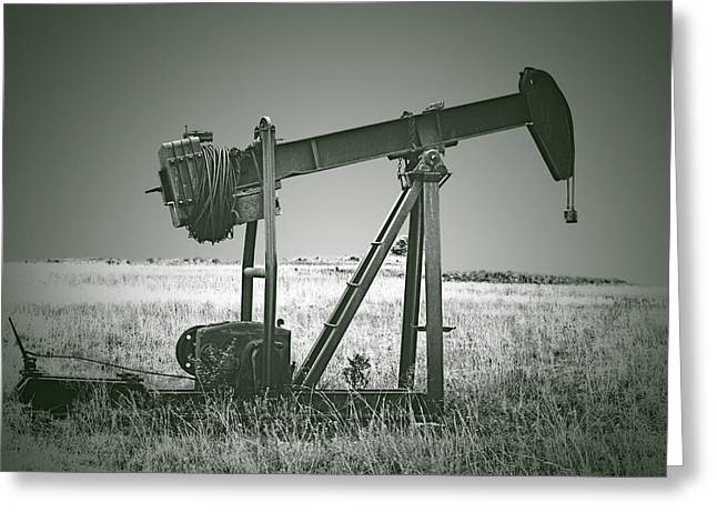 Orphans of the Texas Oil Fields Greeting Card by Christine Till