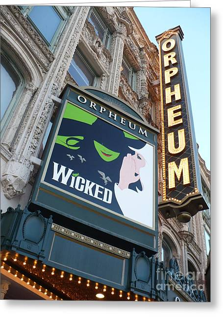 Theatre Photographs Greeting Cards - Orpheum Sign Greeting Card by Carol Groenen