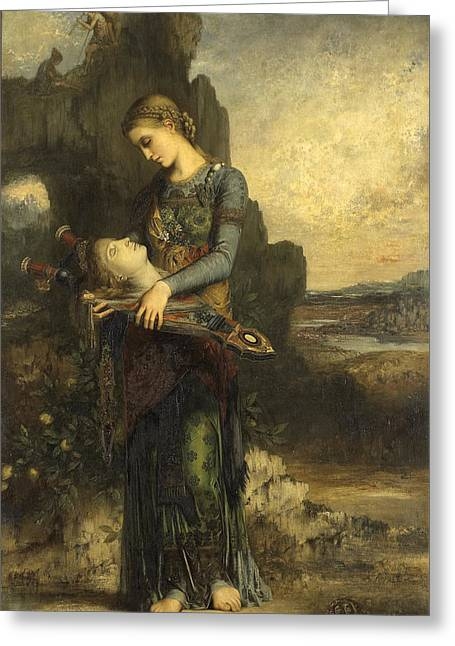 Gustave Moreau Greeting Cards - Orpheus Greeting Card by Gustave Moreau