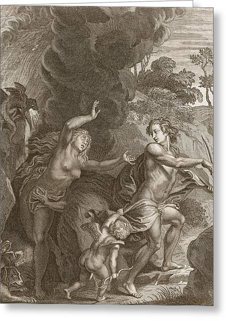 Wife Greeting Cards - Orpheus, Leading Eurydice Out Of Hell Greeting Card by Bernard Picart