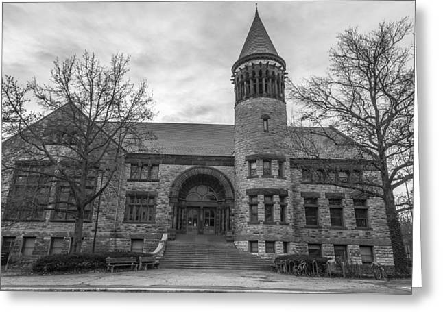 The Ohio State University Greeting Cards - Orton Hall OSU Black and White  Greeting Card by John McGraw