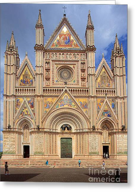 Christianity Greeting Cards - Orvieto Duomo Greeting Card by Inge Johnsson