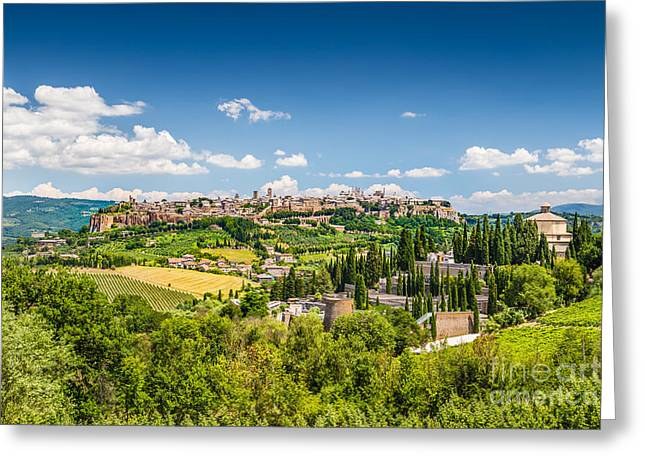 Umbria Greeting Cards - Orvieto Greeting Card by JR Photography