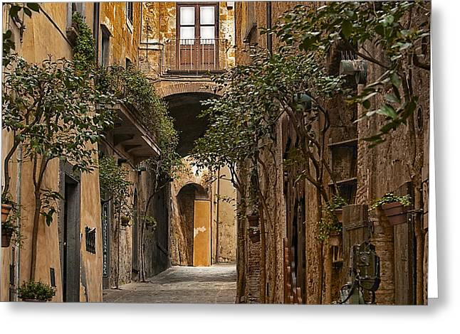 Orvieto Side Street Greeting Card by LYNN ANDREWS