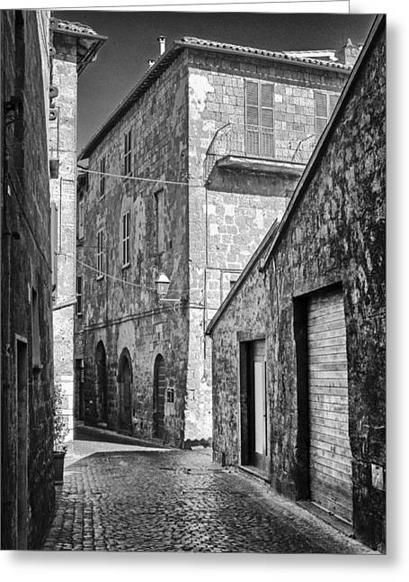Historic Architecture Greeting Cards - Orvieto Street 2 Greeting Card by Gerry Walden
