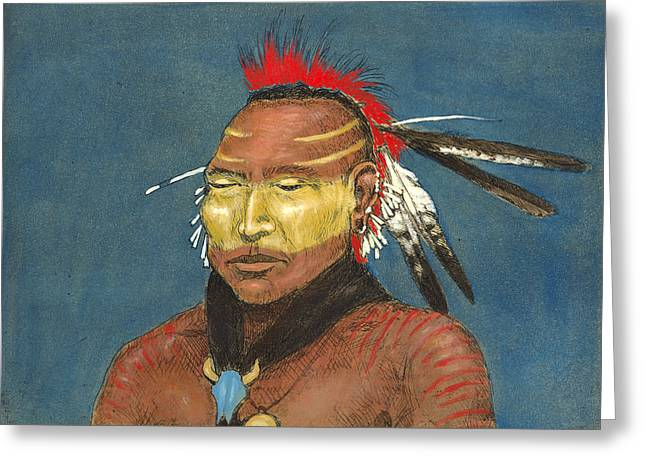 Roach Mixed Media Greeting Cards - Osage Greeting Card by Leif Bakka