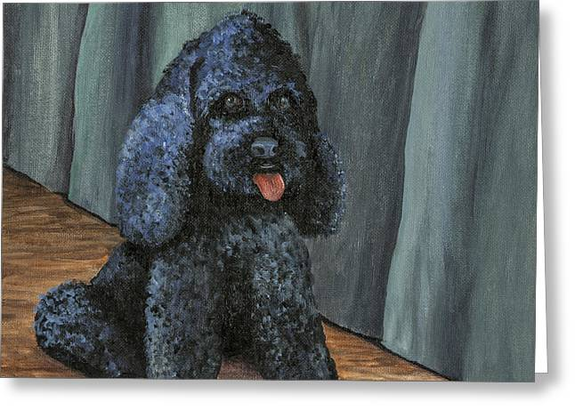 Wet Floor Greeting Cards - Oscar Greeting Card by Darice Machel McGuire