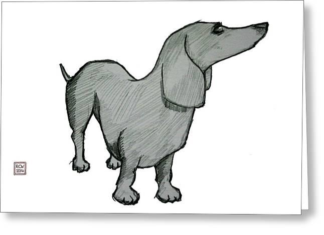 Dog Sketch Greeting Cards - Oscar sketch Greeting Card by Richard Williamson
