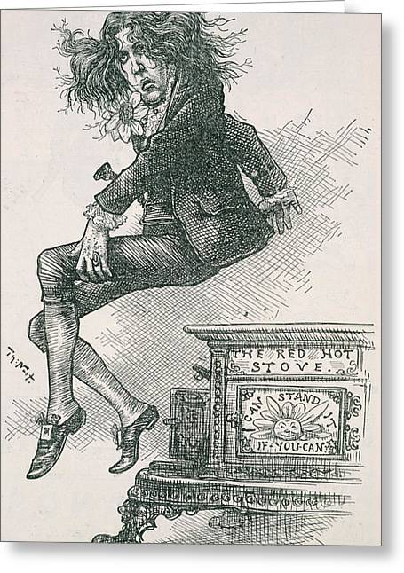 Oscar Wilde Greeting Card by British Library