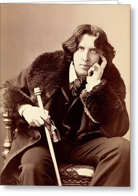 Oscar Wilde Greeting Card by Library Of Congress
