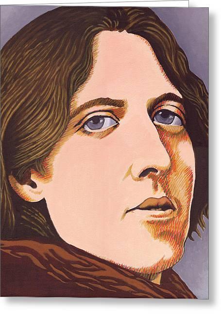 Oscar Wilde Paintings Greeting Cards - Oscar Wilde Greeting Card by Martin Keaney