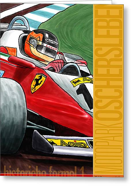 Rally Greeting Cards - Oschersleben Historic F1 Grand Prix Greeting Card by Nomad Art And  Design