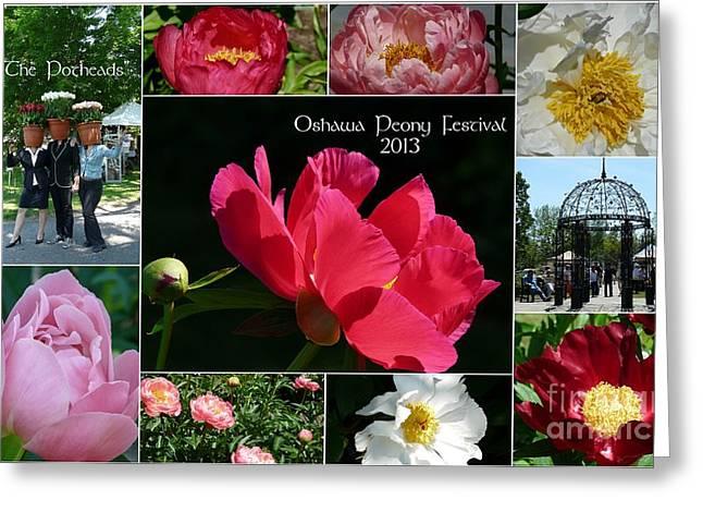 Oshawa Peony Festival 2013 Greeting Card by Avis  Noelle