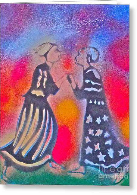 Orishas Greeting Cards - Oshun and Yemaya Greeting Card by Tony B Conscious