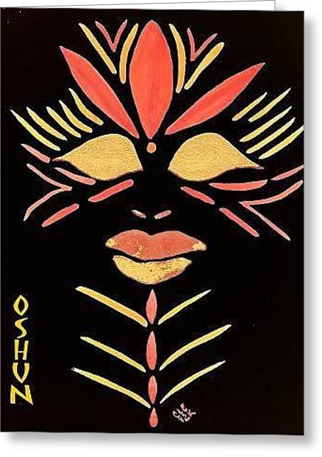Erzulie Greeting Cards - Oshun Greeting Card by Cleaster Cotton