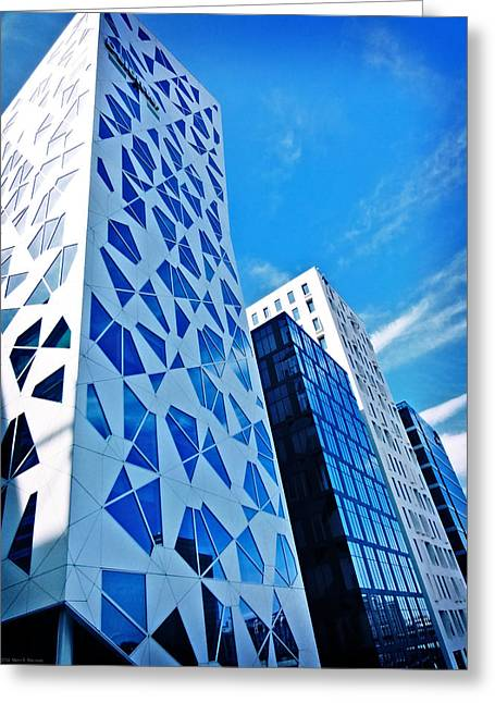 Oslo Architecture No. 2 Greeting Card by Mary Machare