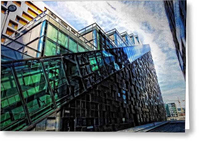Oslo Architecture No. 4 Greeting Card by Mary Machare